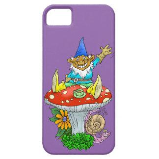 Cartoon illustration of a Waving sitting gnome. iPhone SE/5/5s Case