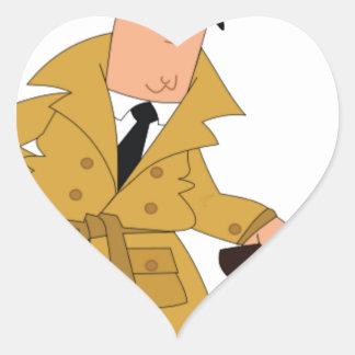 cartoon investigator yeah heart sticker