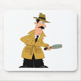 cartoon investigator yeah mouse pad