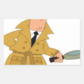 cartoon investigator yeah rectangular sticker