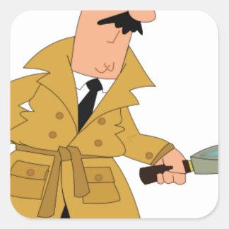 cartoon investigator yeah square sticker