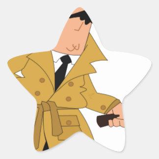 cartoon investigator yeah star sticker