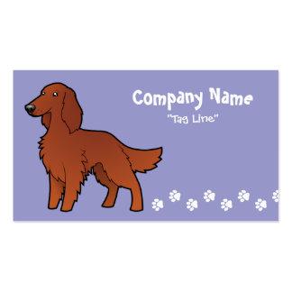 Cartoon Irish / English / Gordon / R&W Setter Business Card Templates