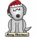 Cartoon Irish Wolfhound Christmas Ornament Cut Outs