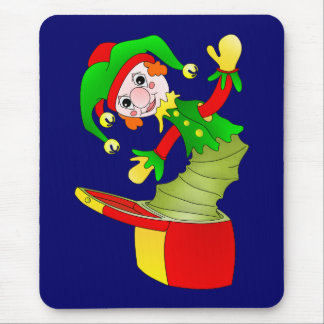 Cartoon Jack in the box cushion Mouse Pad