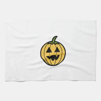 Cartoon Jack-o-Lantern Towel