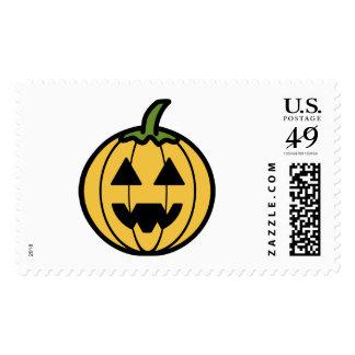 Cartoon Jack-o-Lantern Stamps