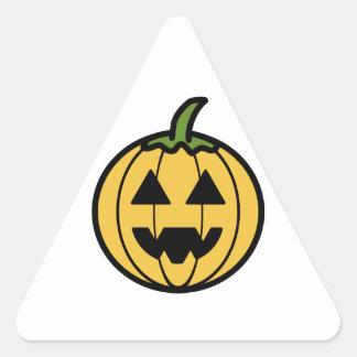 Cartoon Jack-o-Lantern Triangle Sticker