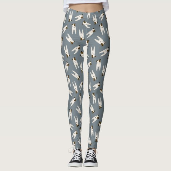 Cartoon Jack Russell dog pattern Leggings