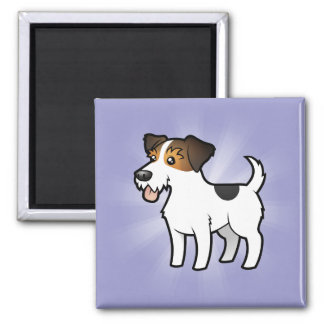 Cartoon Jack Russell Terrier 2 Inch Square Magnet