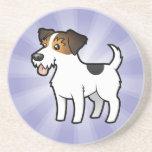 Cartoon Jack Russell Terrier Beverage Coaster