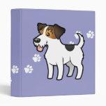 Cartoon Jack Russell Terrier Binder