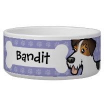Cartoon Jack Russell Terrier Bowl