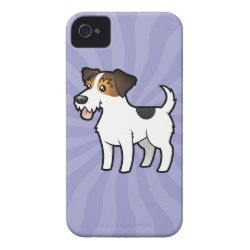 Case-Mate iPhone 4 Barely There Universal Case with Jack Russell Terrier Phone Cases design