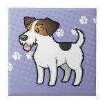 Cartoon Jack Russell Terrier Ceramic Tile