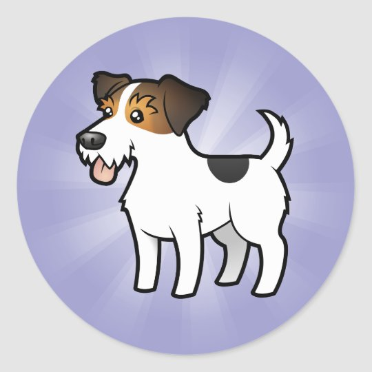 Cartoon Jack Russell Terrier Classic Round Sticker