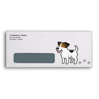 Cartoon Jack Russell Terrier Envelope