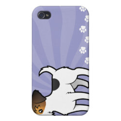 Case Savvy iPhone 4 Matte Finish Case with Jack Russell Terrier Phone Cases design