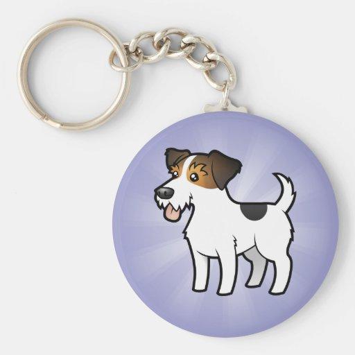 Cartoon Jack Russell Terrier Key Chains