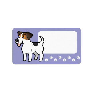 Cartoon Jack Russell Terrier Personalized Address Label