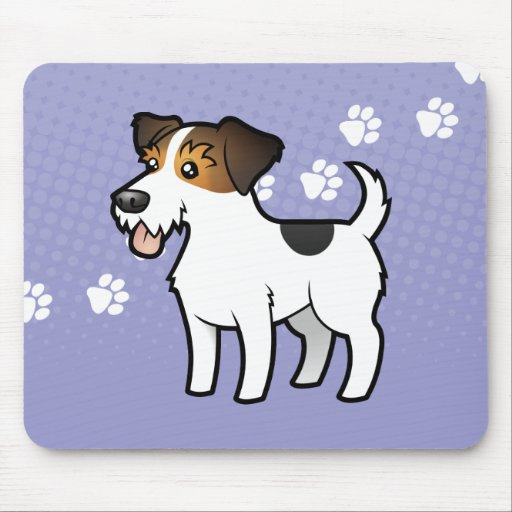 Cartoon Jack Russell Terrier Mouse Pads