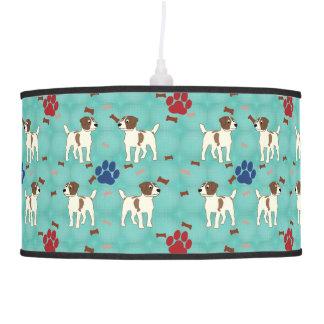 Cartoon Jack Russell Terrier Pendant Lamp