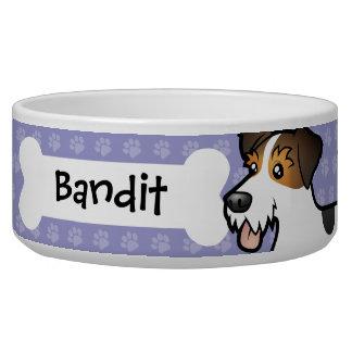 Cartoon Jack Russell Terrier Dog Water Bowl