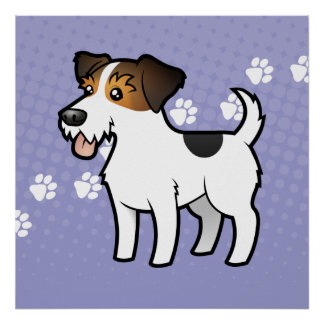 Cartoon Jack Russell Terrier Poster