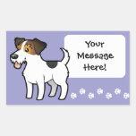Cartoon Jack Russell Terrier Rectangular Sticker