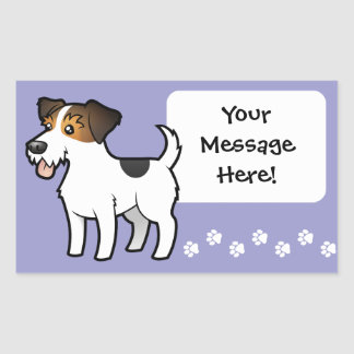 Cartoon Jack Russell Terrier Rectangular Sticker