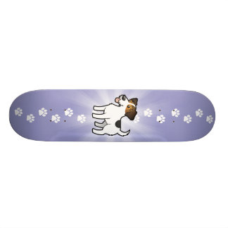 Cartoon Jack Russell Terrier Skateboard Deck