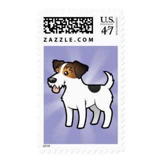 Cartoon Jack Russell Terrier Stamp