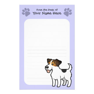 Cartoon Jack Russell Terrier Stationery