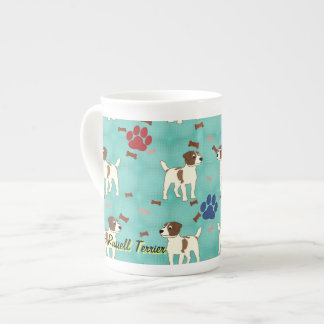 Cartoon Jack Russell Terrier Tea Cup