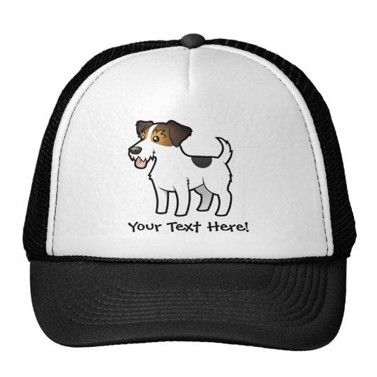 Cartoon Jack Russell Terrier Trucker Hat