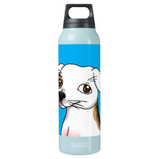 Cartoon Jack Russell with one patch Insulated Water Bottle