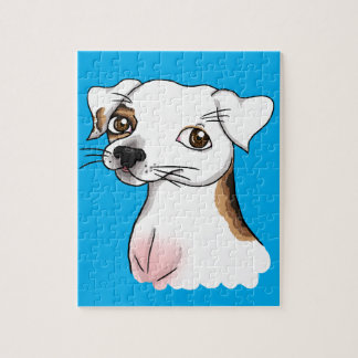 Cartoon Jack Russell with one patch Jigsaw Puzzle