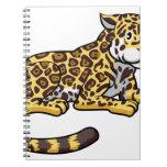Cartoon Jaguar Cat Note Book
