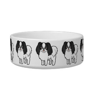 Cartoon Japanese Chin / Phalene Bowl