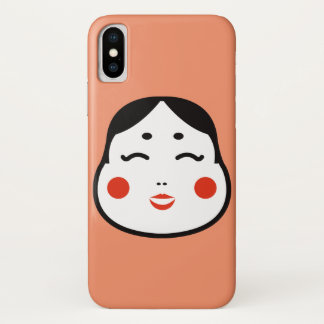 cartoon japanese okame face illustration iPhone x case