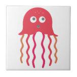 Cartoon Jellyfish Tile
