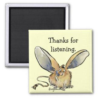 Cartoon Jerboa Thank You Gift Magnet