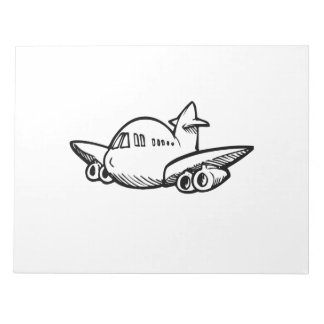 Cartoon Jet Airliner Note Pads