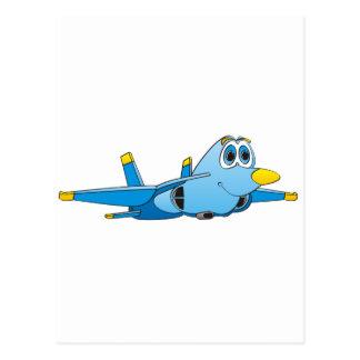 Cartoon Jet Post Card