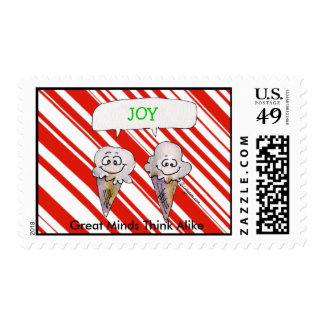 Cartoon Joy Christmas Ice Cream Cones Med Postage