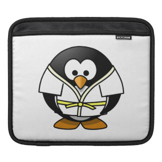 Cartoon Judo Penguin iPad Sleeves