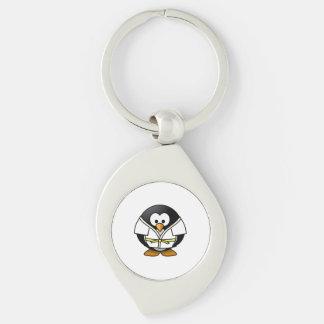 Cartoon Judo Penguin Keychain
