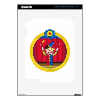 Cartoon Juggling Circus Clown Decal For iPad 3