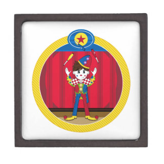 Cartoon Juggling Circus Clown Gift Box