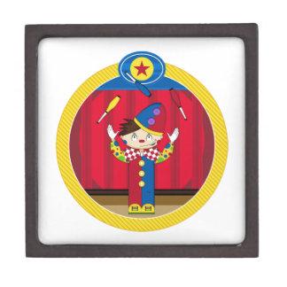 Cartoon Juggling Circus Clown Jewelry Box